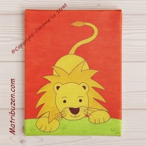 Tableau th me la jungle l o le lion d coration murale for Tableau chambre bebe animaux